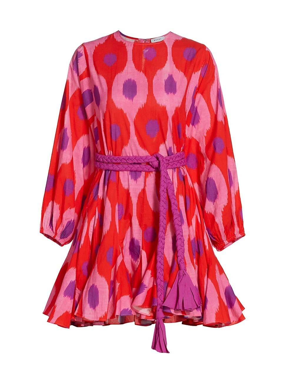 Rhode WOMEN'S ELLA PUFF-SLEEVE FLUTTER MINI DRESS