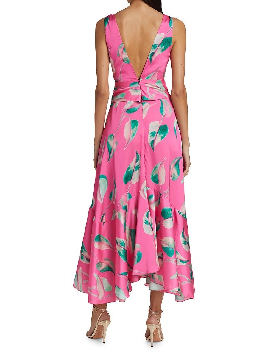 PATBO Maxi dresses WOMEN'S PANDOLA PRINTED PLUNGE MAXI DRESS