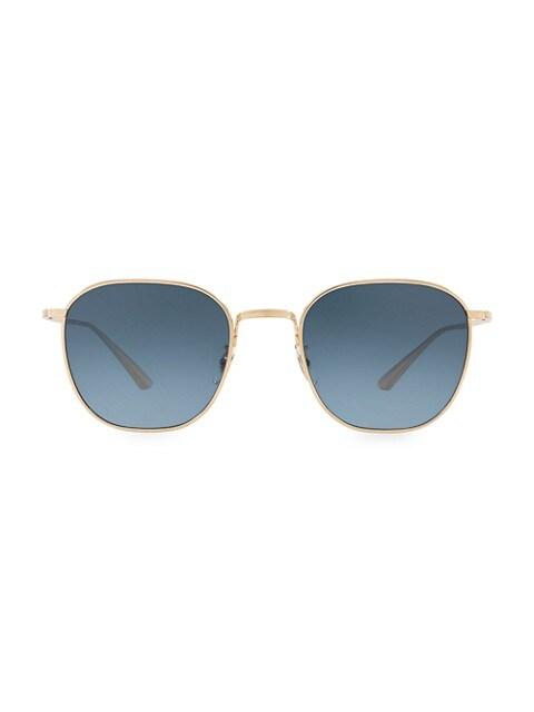 Board Meeting 49MM Square Sunglasses