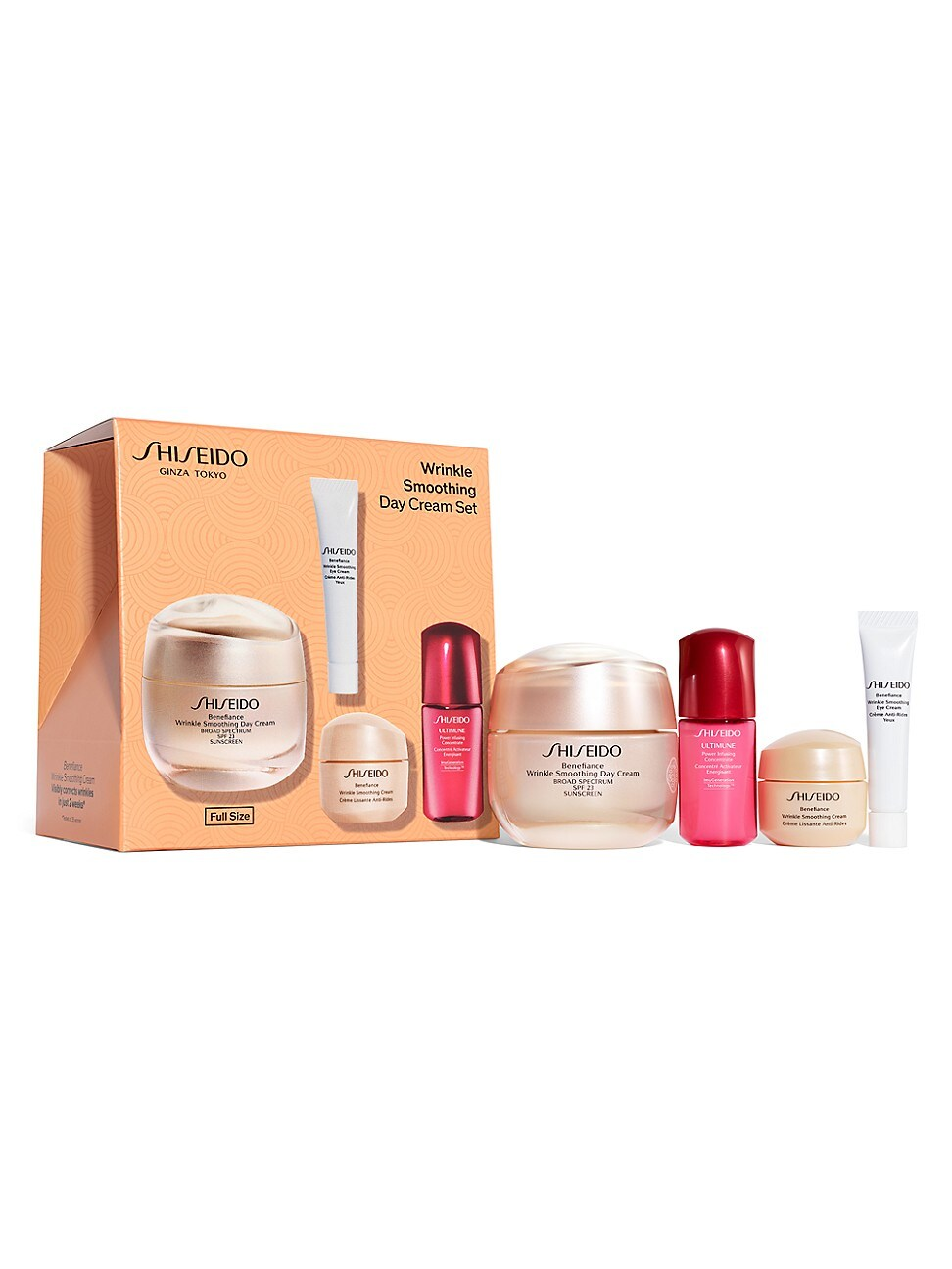 Shiseido BENEFIANCE WRINKLE SMOOTHING DAY CREAM FOUR-PIECE SET