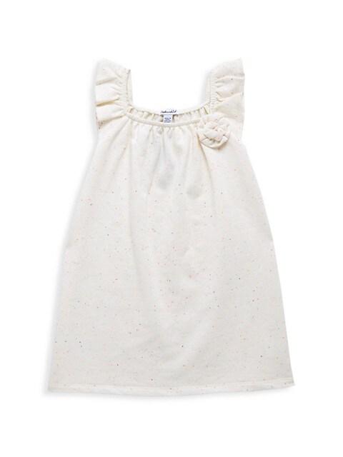 Little Girl's Neon Speck Shift Dress