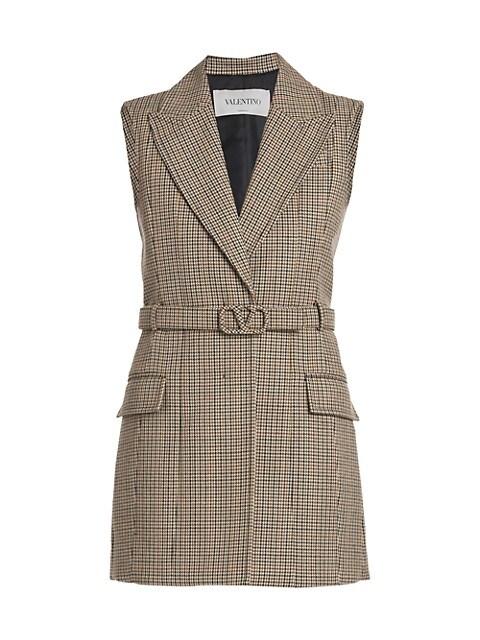 Plaid Belted Mini-Dress