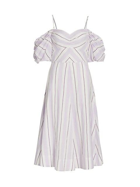 Ramona Off-The-Shoulder Stripe Dress