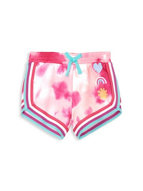 Little Girl's and Girl's Tie-Dye French Terry Shorts