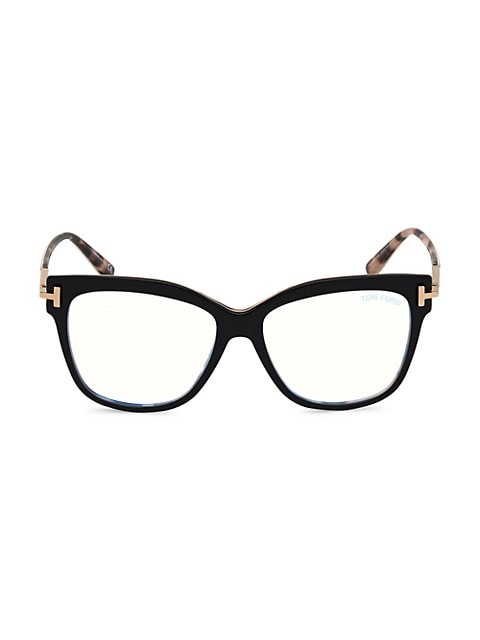 54MM Square Blue Block Optical Glasses