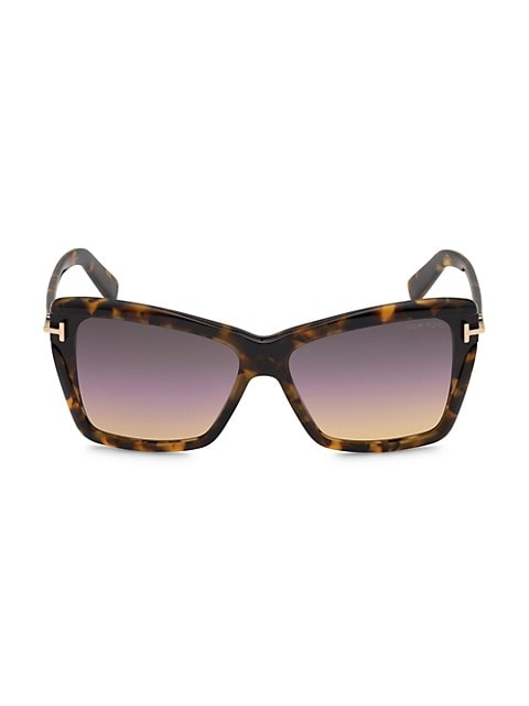 Leah 64MM Butterfly Sunglasses
