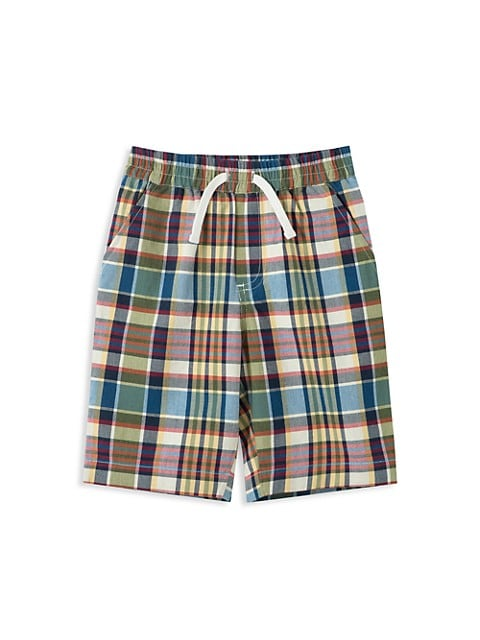 Little Boy's & Boy's Plaid Shorts