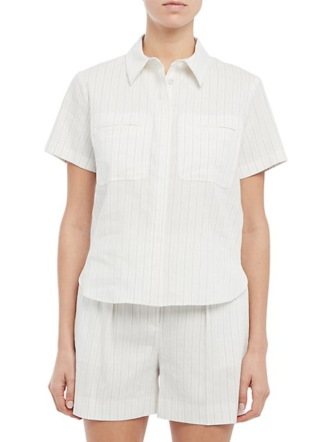 Easy Striped Short-Sleeve Shirt