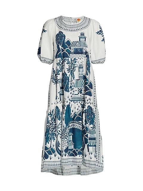 Ancient Garden Midi Dress