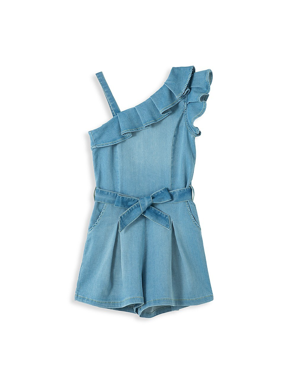Habitual Dresses LITTLE GIRL'S OFF-THE-SHOULDER RUFFLE ROMPER