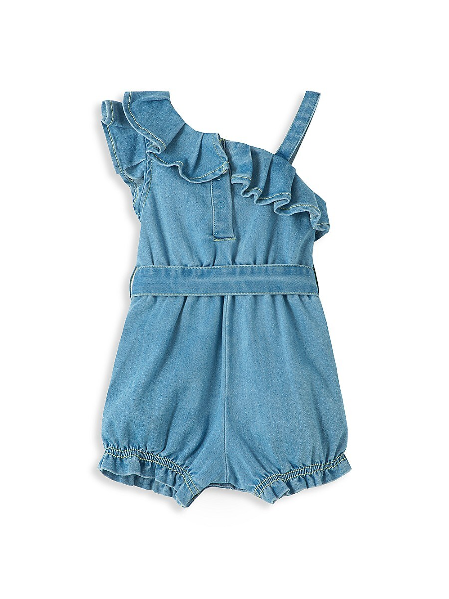 HABITUAL Cottons BABY GIRL'S OFF-THE-SHOULDER RUFFLE ROMPER