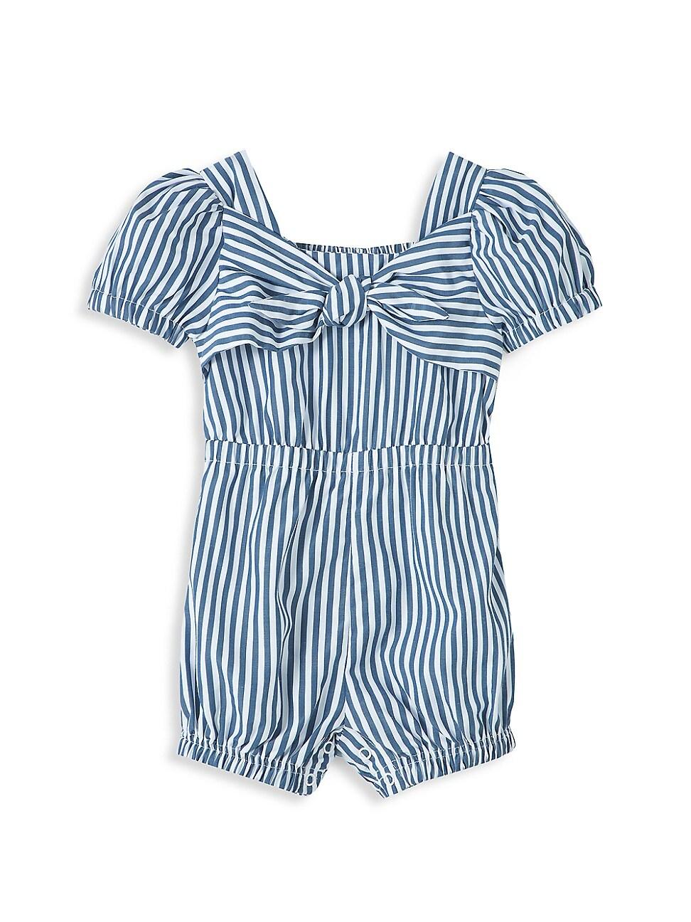 Habitual BABY GIRL'S CAP-SLEEVE TIE-FRONT ROMPER