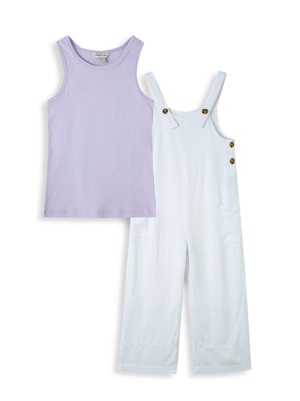 Habitual LITTLE GIRL'S 2-PIECE OVERALL SET