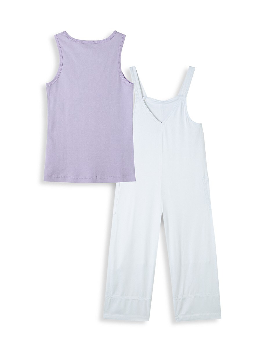 HABITUAL Cottons LITTLE GIRL'S 2-PIECE OVERALL SET