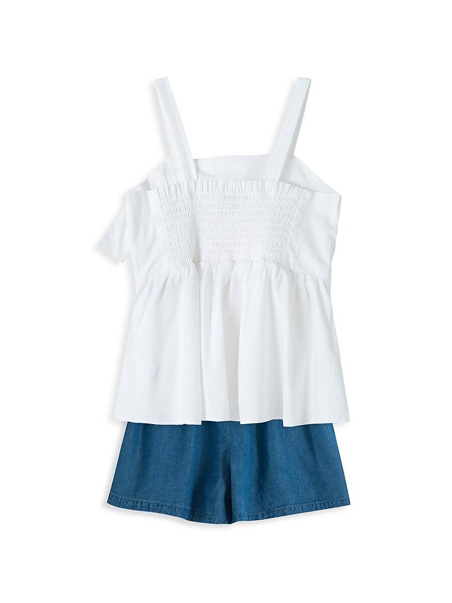 HABITUAL Cottons GIRLS 4-6X DRAPE BABYDOLL SHORT SET