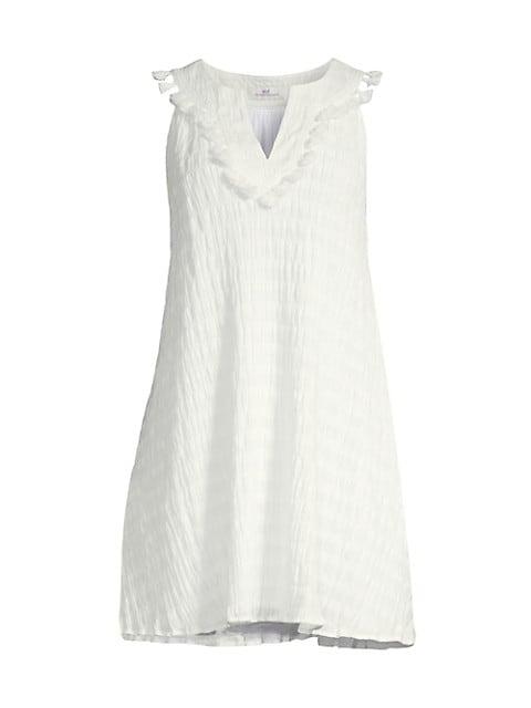 St Barths Tassel Stretch-Cotton Dress