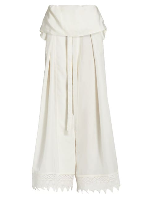 Macramé Belted Trousers