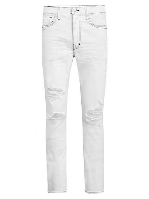 Asher Slim-Fit Distressed Jeans