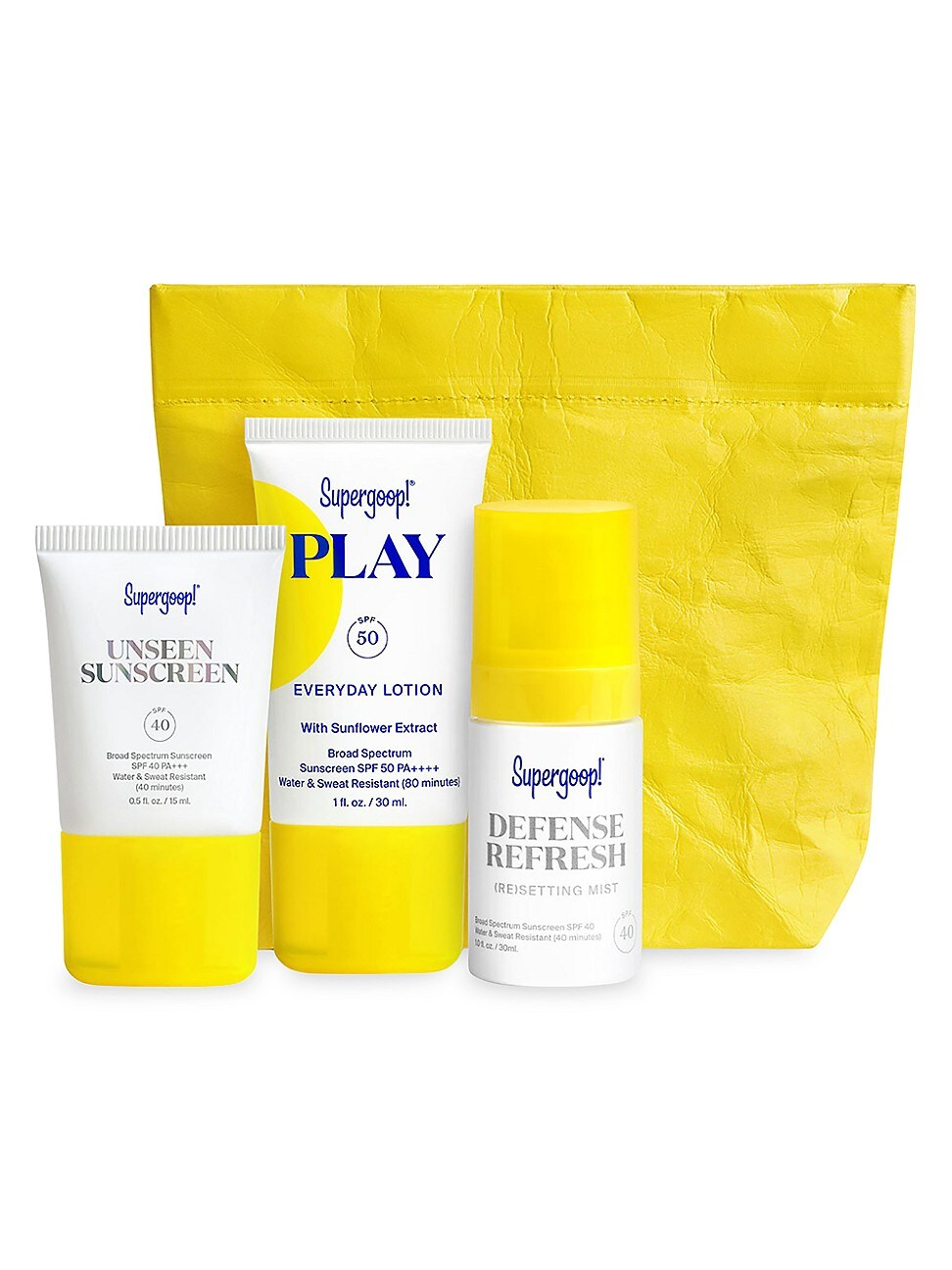 Supergoop ! SPF FROM HEAD-TO-TOE 3-PIECE KIT