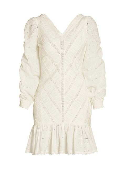 Memory Lane Broderie Anglaise Ruched Dress