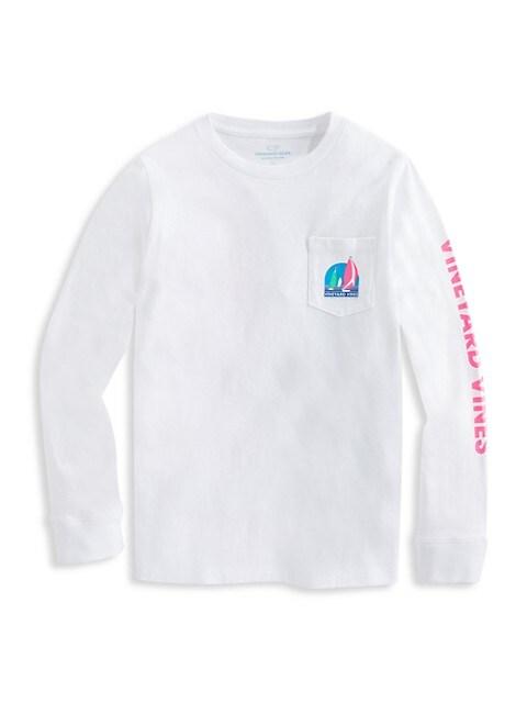 Little Boy's & Boy's Long-Sleeve Regatta Pocket T-Shirt