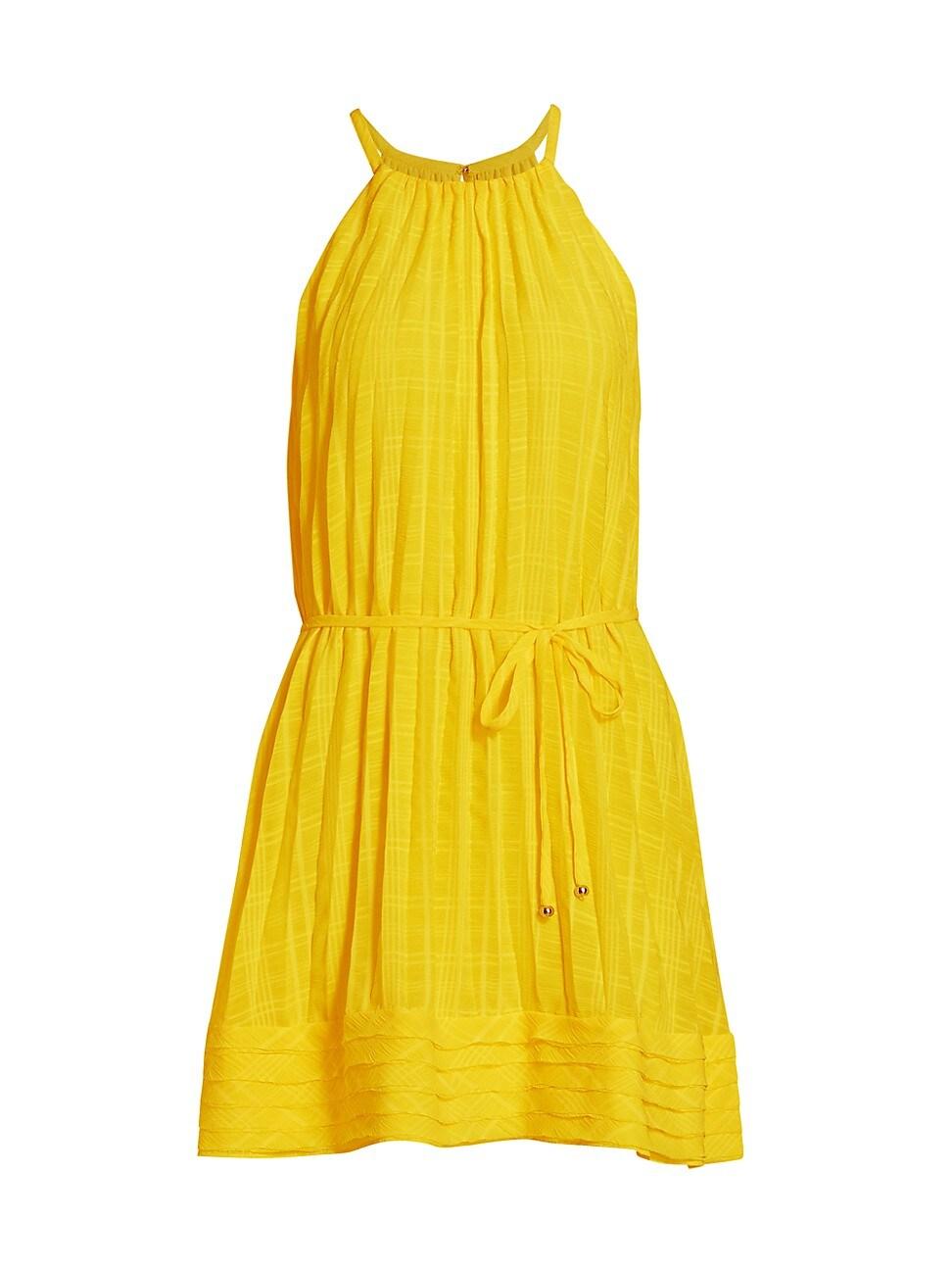 Ramy Brook Mini dresses WOMEN'S BOBBI PLEATED HALTER DRESS