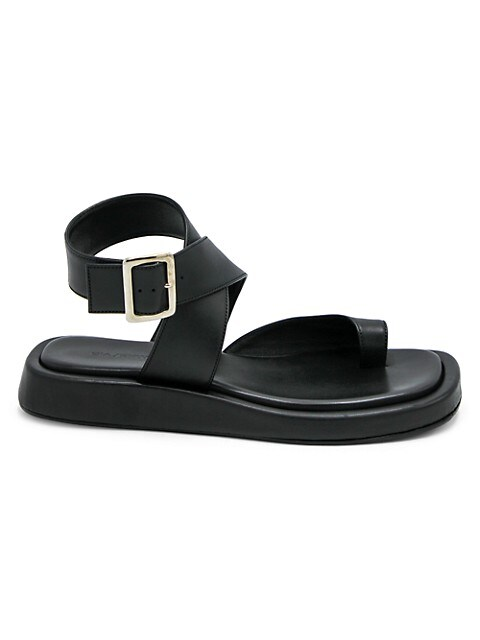 Gia x RHW Leather Platform Wedge Sandals
