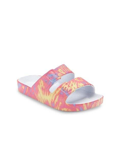Little Girl's & Girl's Multicolor Two-Strap Slides