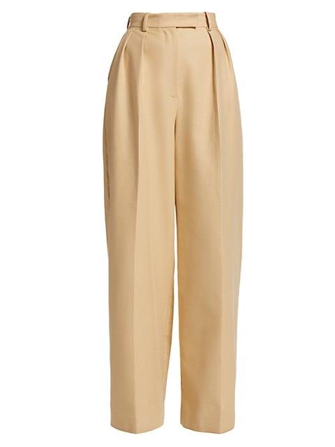 Teyana Wide-Leg Cotton Trousers