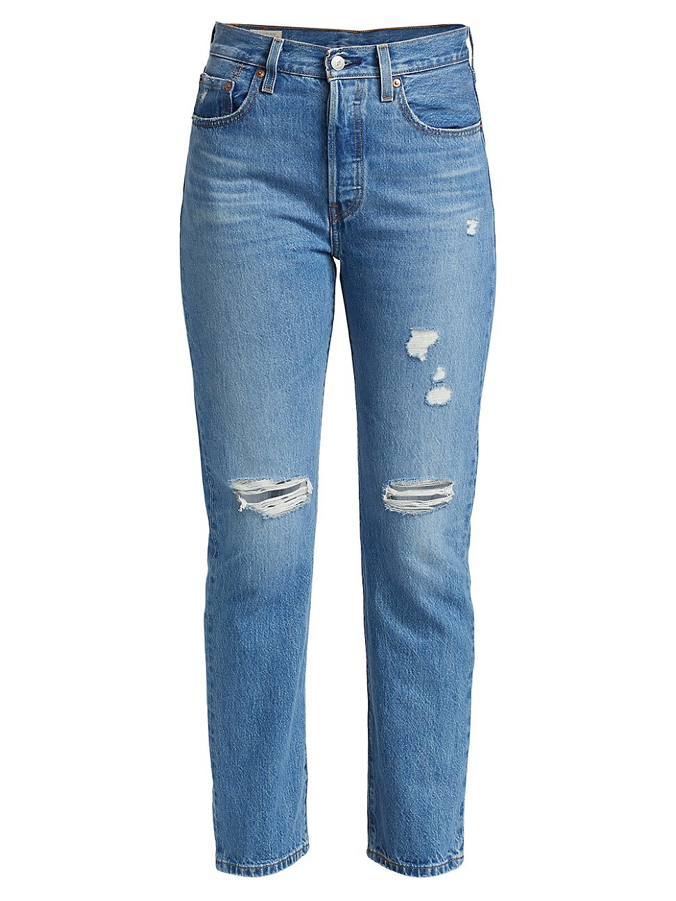 Levi's WOMEN'S 501® HIGH-RISE DISTRESSED STRAIGHT JEANS