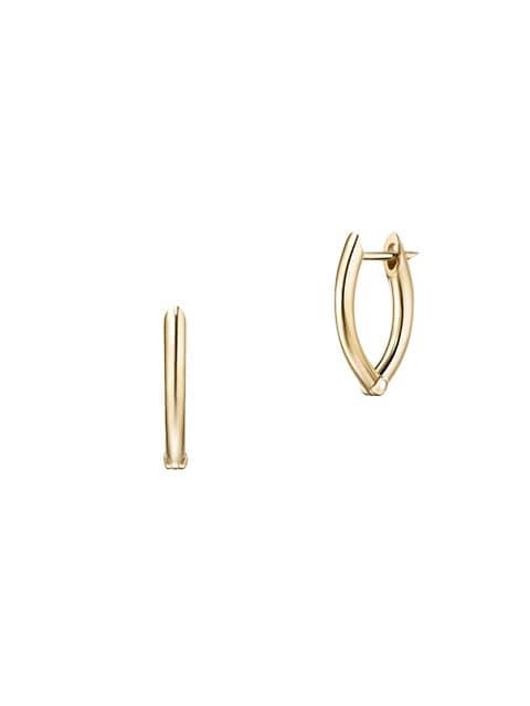 Cristina 18K Yellow Gold Small Hoop Earrings