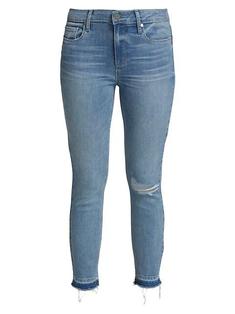 Verdugo Distressed Mid-Rise Crop Skinny Jeans