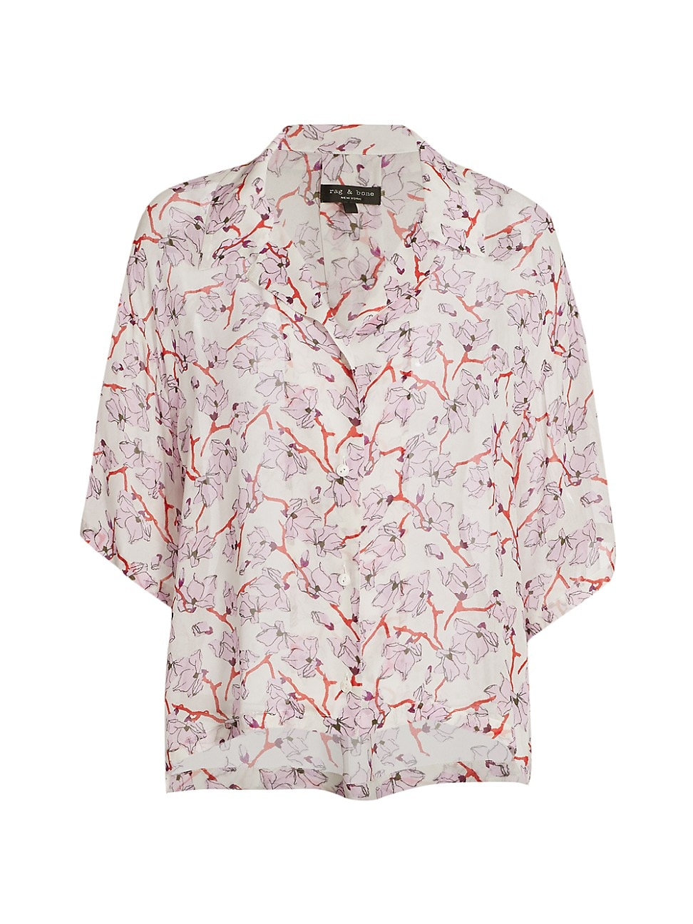 Rag & Bone WOMEN'S REED FLORAL SHORT-SLEEVE SHIRT