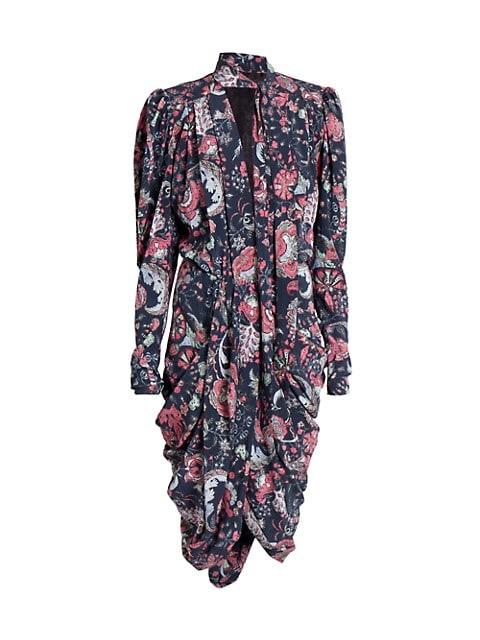 Batoa Tie-Neck Floral Dress
