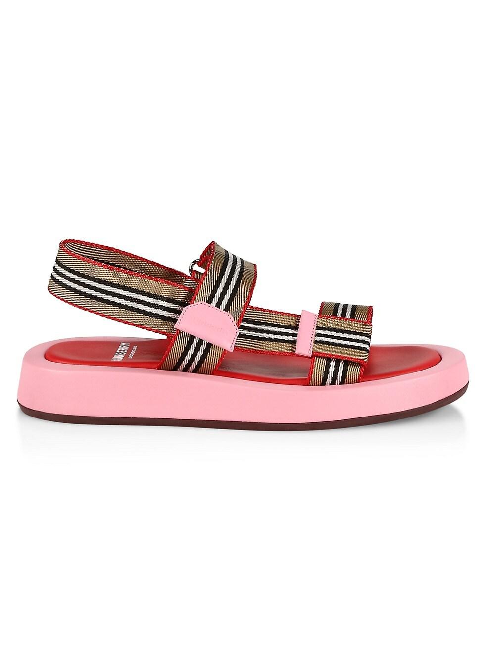 Burberry Stripe Flat Sandals