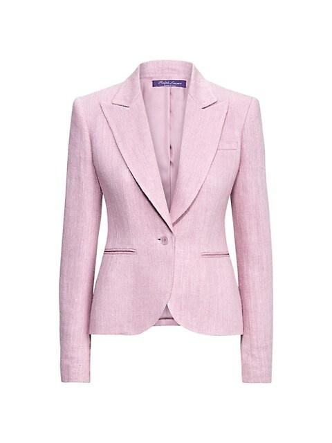 Alysha Silk-Linen Herringbone Jacket