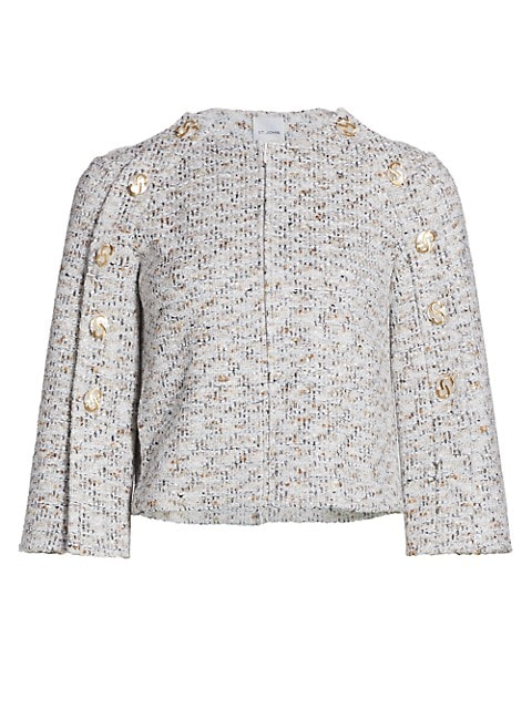 Binario Tweed Button Sleeve Jacket