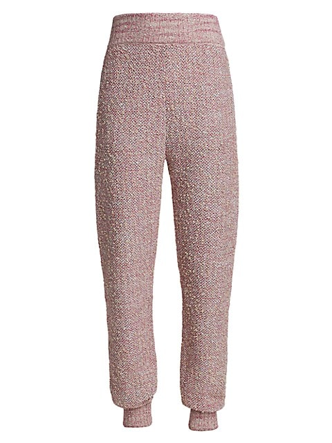 Bouclé Space-Dyed Tweed Knit Joggers