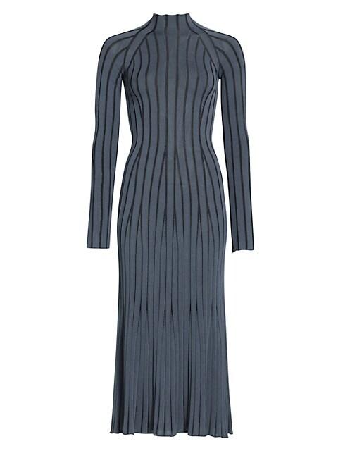 Vanise Rib Knit Midi Dress