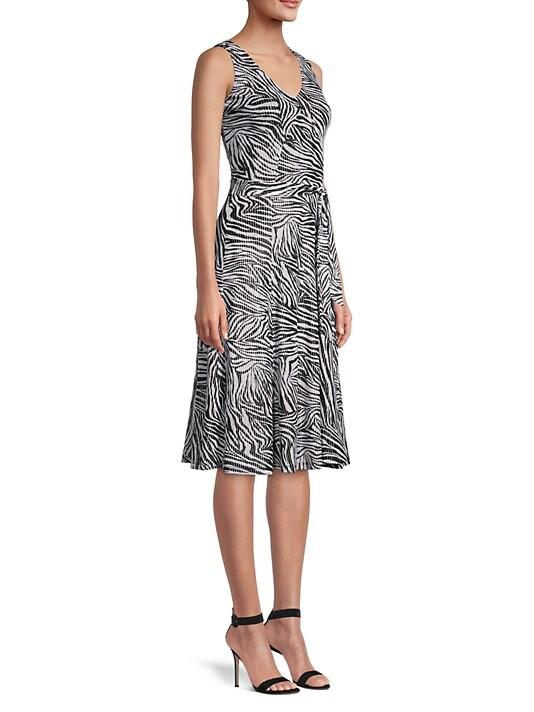 MICHAEL Michael Kors Zebra Print Fit-&-Flare Dress