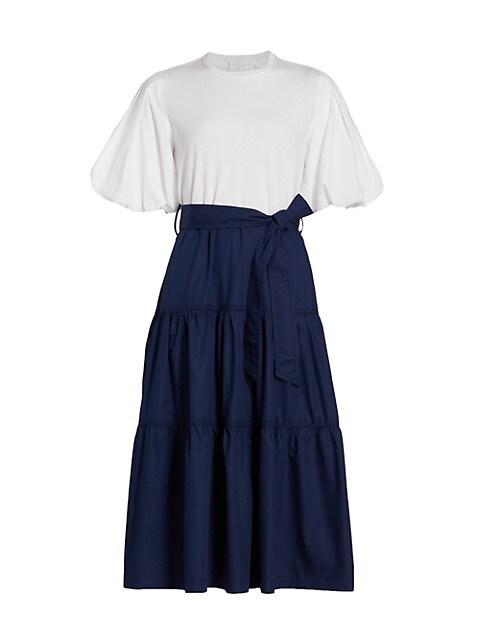 Quincy Puff-Sleeve Midi Dress