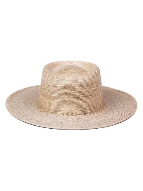 Palma Woven Boater Hat