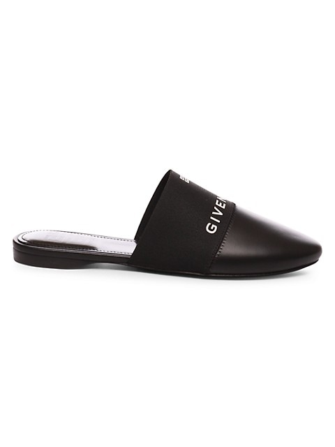 Bedford 4G Flat Leather Mules