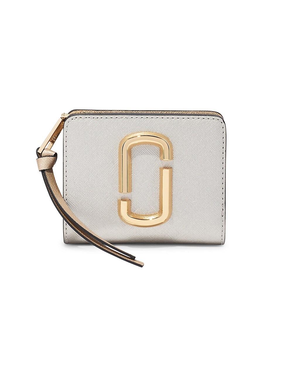 마크 제이콥스 지갑 Marc Jacobs Mini The Snapshot Coated Leather Wallet,PLATINUM