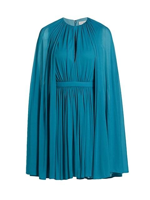 Josie Shirred Cape Dress
