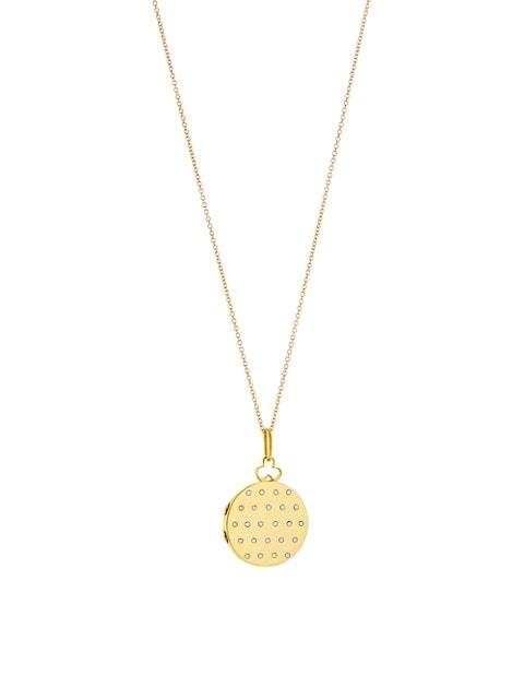 14K & 18K Yellow Gold Small Jane Locket Necklace