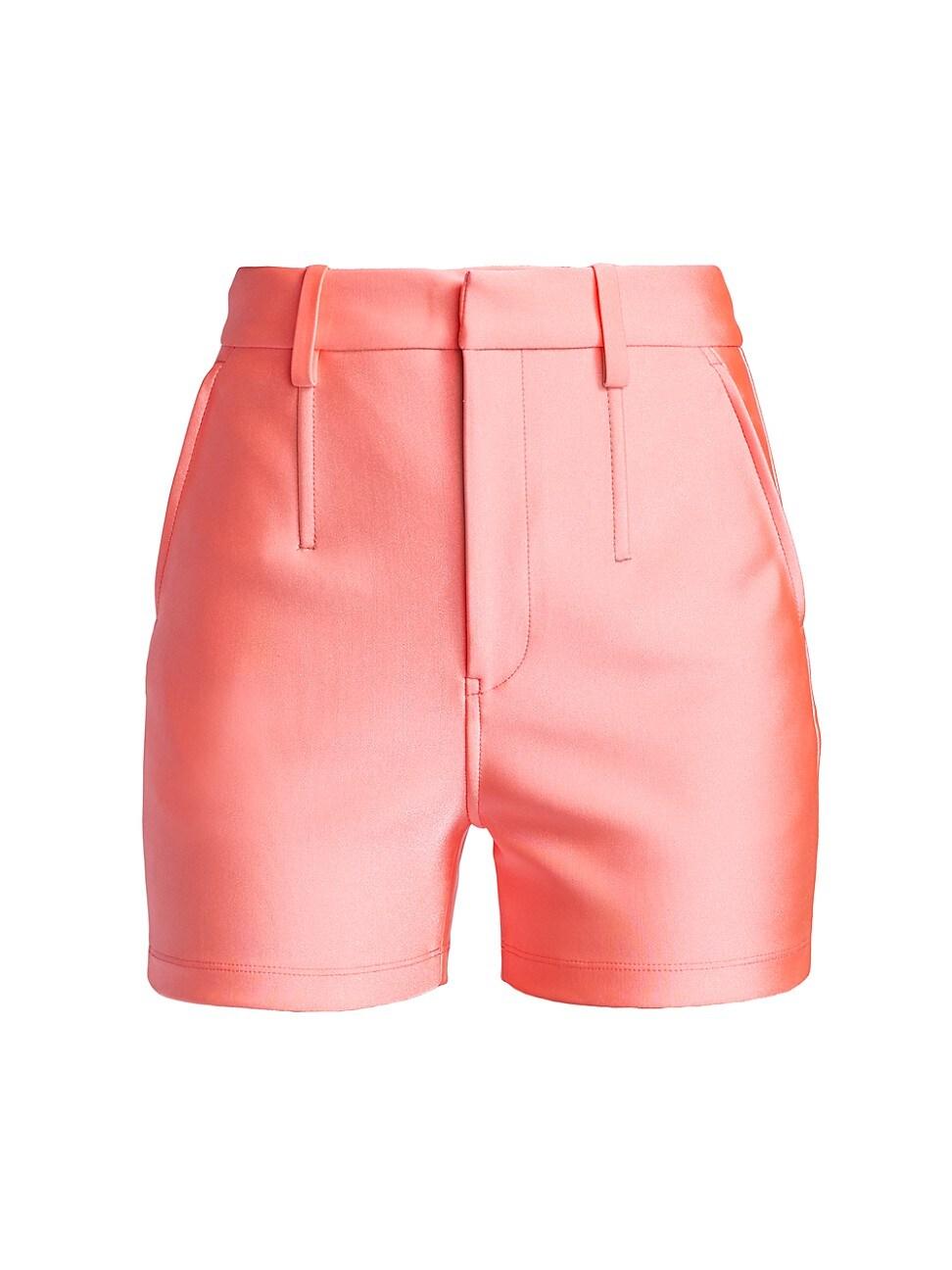 Alexander Wang Boning Bike Shorts In Bright Pink