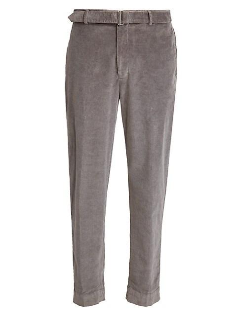 Owel Belted Fine Corduroy Pants