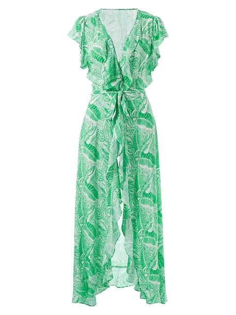 Bria Ruffle Front Midi Dress