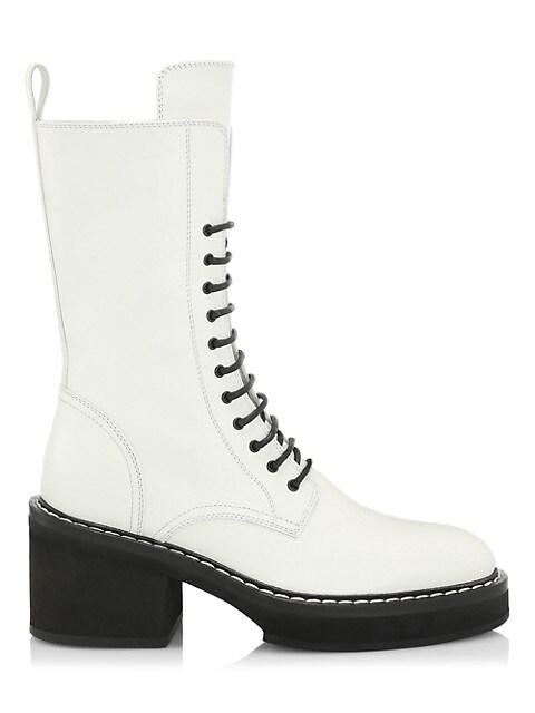 Cody Leather Combat Boots
